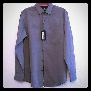 Hart Schaffner Marx Button Up Shirt Paisley Blue